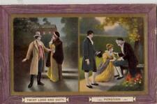 W26. Vintage Postcard. Twixt love and duty/forgiven.