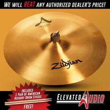 "Zildjian A 18"" Crash/Ride Cymbal + FREE American Hickory Drum Sticks! Make Offer"