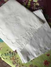 2 taies d'oreiller vintage neufs, coton pur. French vintage sq pillow cases, new