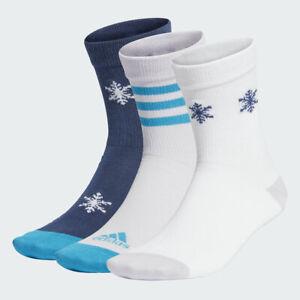 adidas x Disney Frozen II Crew Socks 3 Pairs RRP £12 Brand New FN0982