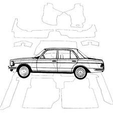 Mercedes W123 Limousine Teppich Velours bambus Keder Kunstleder braun (H)