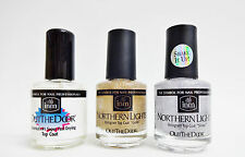 INM Out The Door TOP COAT + SILVER + GOLD Hologram Glitters .5oz/15ml each