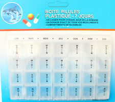 Pilulier à Médicament Semainier 7 Jours Détachable TRANSPARENT Boite à Pilule