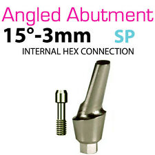 Angled Abutment for Dental Implant Standard 15 3mm Internal Hex Prosthetic Lab