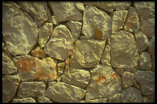 404027 Stone Wall A4 Photo Texture Print