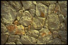 404027 Stone Wall A4 Photo Texture Print