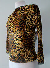 Jus D'Orange Paris sz 10 Leopard Gold Shimmer Top