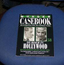 MURDER CASEBOOK NUMBER 58 - MURDER IN HOLLYWOOD - WILLIAM DESMOND TAYLOR