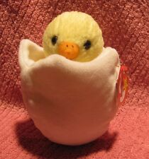 """Ty Beanie Baby """"EGGBERT Easter Chick in Egg"""" 5th swing tag, 7th tush tag - 1998"""