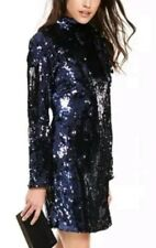 V By Very sz 14  Navy sequin party  dress bow neck long sleeves bnwt