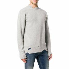 DIESEL K MUST Mens Sweatshirt Crew Neck Italy Vintage Ripped Pullover Jumper