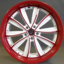 "4 ~ 18x8 White Diamond WD-981 White and Red Custom Wheels 5-114.3 / 5x4.5"" +35mm"