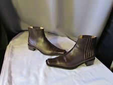 boots/bottines atika cuir marron 38