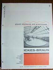 1964 ICKES-BRAUN GREENHOUSE Enclosures Pools Solariums TRANSITE ASBESTOS Catalog