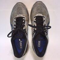 ASICS Gel-Kayano 23 FlyteFoam Mens Size 10 Running Shoes Gray/Black/Silver