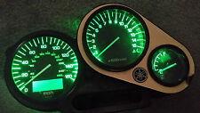 GREEN YAMAHA FZS 1000 FAZER  led dash clock conversion kit lightenUPgrade