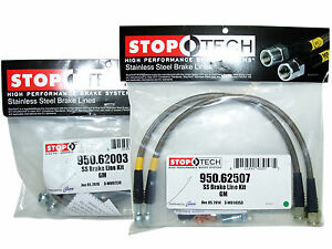 Stoptech Stainless Steel Braided Brake Lines (Front & Rear Set / 62003+62507)