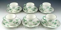 Wedgwood England S243 FALLING LEAVES CUPS AND SAUCERS Set of 6