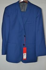 Hugo Boss Astian/Hets Super 110 Men's Virgin Wool Blue 40S/34x28 Slim Fit Suit