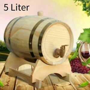 Holzfass Weinfass Eichenfass Weinfaß Whisky Wein Schnaps Lagerung Getränke 5L DE