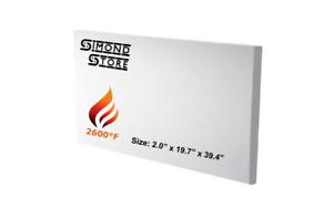 """Ceramic Fiber Board 2600°F 2.0"""" X 19.7""""X 39.4"""""""