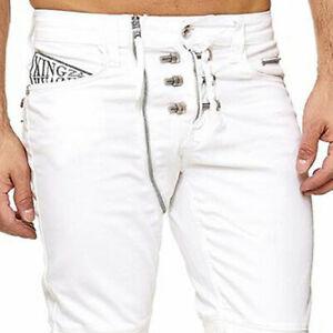 Kingz VENICE Herren Jeans Denim Straight Cut alle Gr. Neu