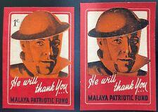 Malaya Patriotic Fund  Poster Stamps