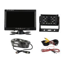 """Monitor 7"""" Kit Telecamera Led Infrarossi Retromarcia Auto Retrocamera Camper"""