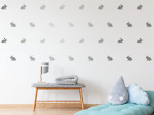 40 Silver Bunny Rabbit Shapes 3cm (1.25in) Wall Stickers Decals Confetti Nursery