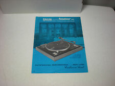 VINTAGE ORIGINAL HERVIC CONNOISSEUR BD/2 TRANSCRIPTION TURNTABLE 1pg BROCHURE