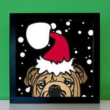 Bulldogge Weihnachtsbild Weihnachtsgeschenk Portrait Geschenke für Hundefreunde
