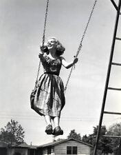 Philippe Halsman Model on Swing Fashion 11x14 Stamped B&W Photograph