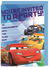Disney Cars Themed Party Supplies Pack of 16 Invitations With Envelopes VIC Boy