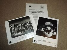 Bob Dylan Sony Live 1975 Genuine BS Promotional Press Release Sheet + 2 X Photos