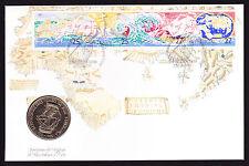 1988 Portugal Explorer coin & stamp cover Bartholomeu Dias Exploration Travel