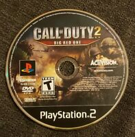 CALL OF DUTY 2 Big Red One (Playstation 2, 2005) PS2 DISC ONLY