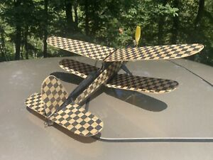Rtf Telco Co2 Engine Powered North Pacific Bipe  Vintage  Balsa Model Airplane