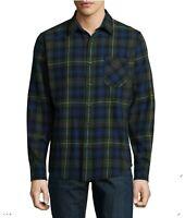 Button Up Shirt Plaid Flannel Arizona Long Sleeve Blue/Green Mens Size M-XXL