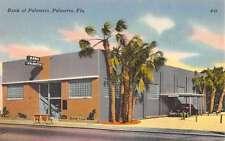 Palmetto Florida Bank Exterior Street View Antique Postcard K22100
