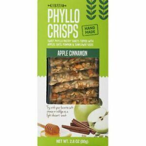 Phyllo Crisps Apple Cinnamon, Case of Twelve 2.8 Oz Boxes