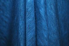 "100% Linen Jersey Knit Fabric By Yard  Semi Sheer highend fabric 60"" Wide Cadet"