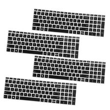 Set of 4 Laptop Keyboard Cover Protector Skin Film For HP 15.6'' BF Black Color