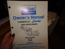 Cub Cadet 4816R 5418R Commercial Series Mower Pro Performer Owner's Manual