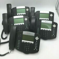 Lot Of 5 Polycom Soundpoint Ip 550 Phones 2201 12550 001 With Stands And Handset