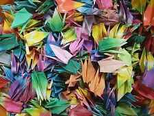 "100 Handmade Folded Lucky Origami Cranes 2"" x 2"""