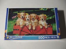500 pc Puzzle, Puzzlebug: Labrador Puppies (Brand New & Sealed