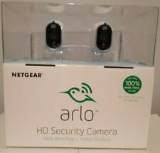 arlo hd security camera twin pack netgear 100% wire free indoor outdoor use