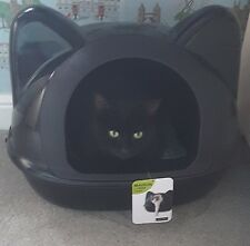 BNWT Black Cat Head Litter Tray or Bed  / UNUSUAL FRENCH BRAND WOAPY