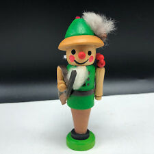 Steinbach Volkskunst Nutcracker miniature ornament Germany wood figure duck hunt