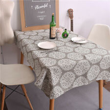 New Retro Flowers Cotton Linen Gray Cloth House Dining table Cloth Tablecloths
